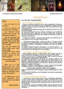 2015-11 Newsletter Buis Sons Ardents - N°3
