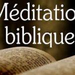 Méditation biblique